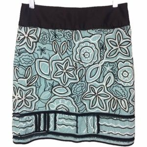 Etcetera Embroidered Skirt Floral Print A Line 6